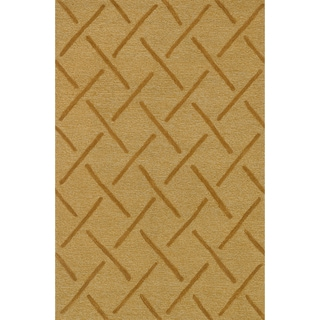 Hand Tufted Benson Gold Rug (7'6 x 9'6)