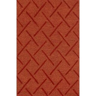Hand Tufted Benson Rust Rug (3'6 x 5'6)
