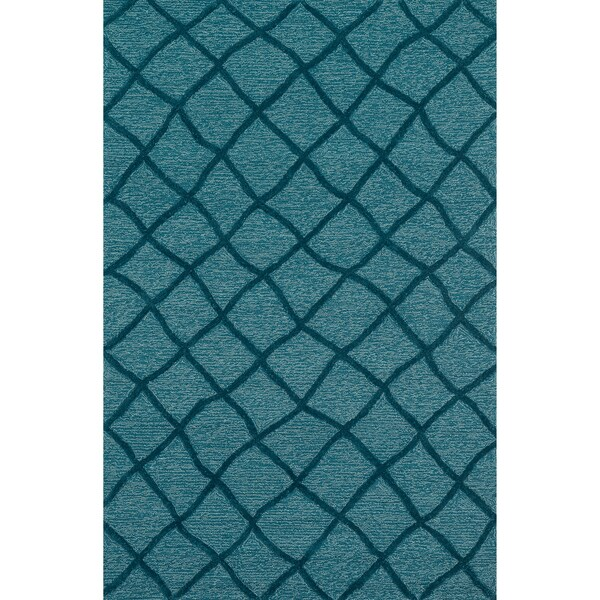 Hand Tufted Benson Blue Rug (9'3 x 13)
