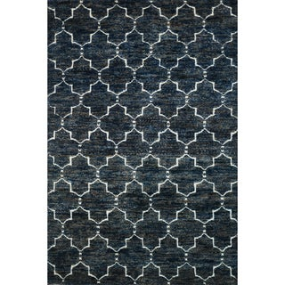 Hand Knotted Phoenix Rug Navy (9.6X13.6)
