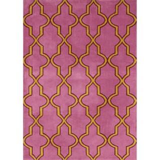 nuLOOM Modern Moroccan Trellis Lattice Pink Rug (5' x 8')
