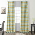 Espen Citron Faux Silk Jacquard Curtain Panel