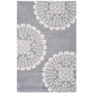 Safavieh Handmade Bella Grey/ Ivory Wool Rug (2'6 x 4')