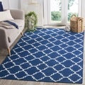 Safavieh Handwoven Moroccan Dhurries Dark Blue Wool Area Rug (2'6 x 4')