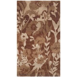 Safavieh Hand-knotted Tibetan Brown Wool Area Rug (4' x 6')