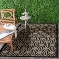 Safavieh Indoor/ Outdoor Courtyard Brown/ Black Rug (6'7 x 9'6)