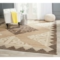 Safavieh Handmade Kenya Brown/ Charcoal Wool Rug (6' x 9')