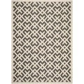 Safavieh Contemporary Indoor/ Outdoor Courtyard Beige/ Black Rug (8' x 11')