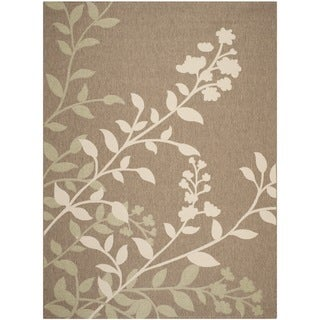 Safavieh Indoor/ Outdoor Courtyard Brown/ Beige Rug (8' x 11')