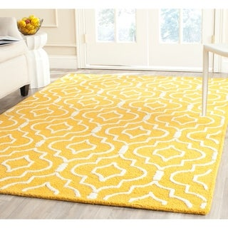 Safavieh Handmade Moroccan Cambridge Gold/ Ivory Wool Area Rug (9' x 12')