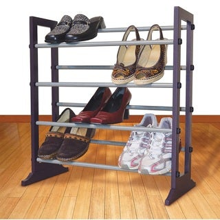 Expandable Enamel Coated Shoe Rack