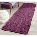 Safavieh Hand-woven Natural Fiber Purple Jute Rug (2'6 x 6')