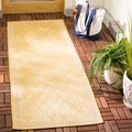 Safavieh Indoor/ Outdoor Courtyard Yellow/ Beige Rug (2'3 x 6'7)