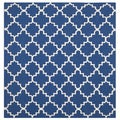 Safavieh Hand-woven Moroccan Dhurries Dark Blue Wool Rug (6' Square)