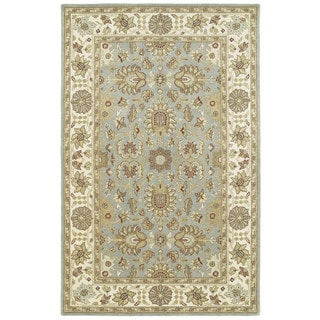Anabelle Spa Blue Hand-tufted Wool Area Rug (2' x 3')