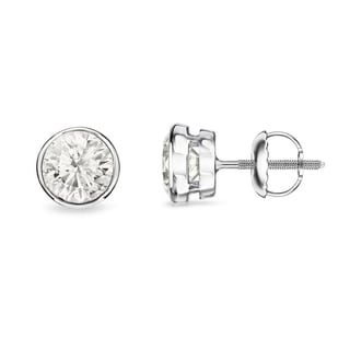 Auriya 14k Gold 1/3ct TDW Certified Diamond Bezel Earrings (H-I, SI1-SI2)
