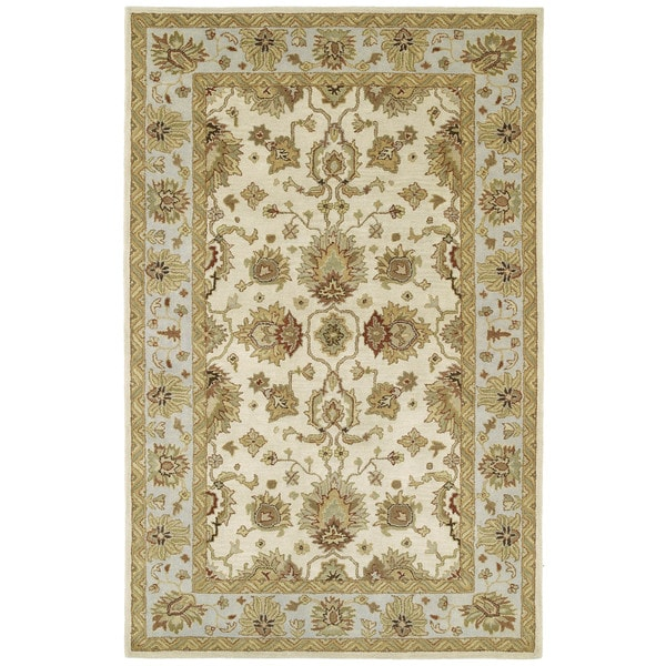 Hand-tufted Anabelle Ivory Traditional Wool Area Rug (9' x 12')