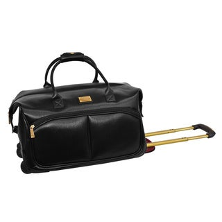 Adrienne Vittadini Carry On Fashion Rolling Upright Duffel Bag