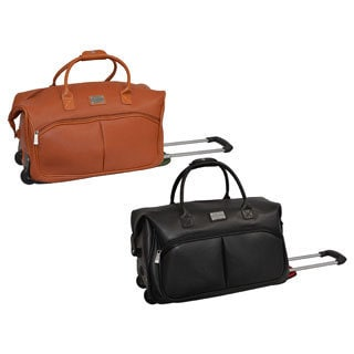 Adrienne Vittadini Carry-on Fashion Rolling Upright Duffel Bag