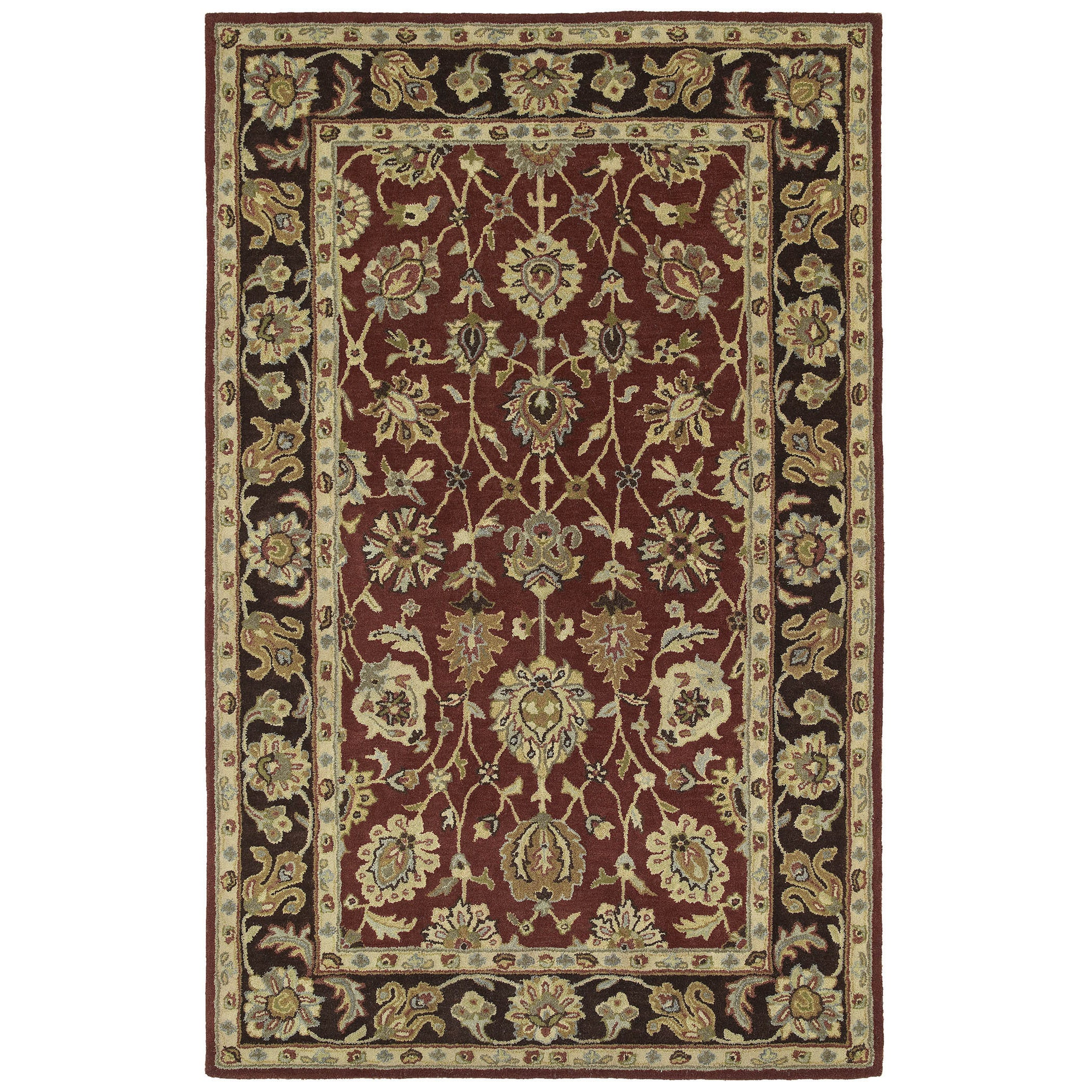 Anabelle Burgundy Hand-tufted Wool Area Rug (10' x 14') at Sears.com