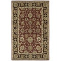 Anabelle Burgundy Hand-tufted Wool Area Rug (10' x 14')