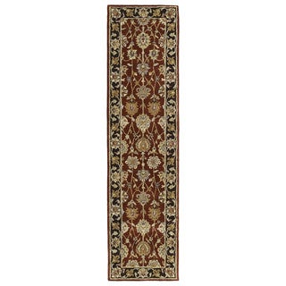 Anabelle Burgundy Hand-tufted Wool Area Rug (2'6 x 10')