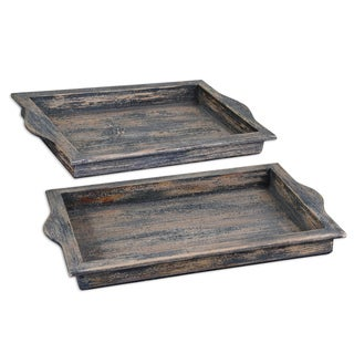 Bleu Dark Blue/ Aged Ivory Tray