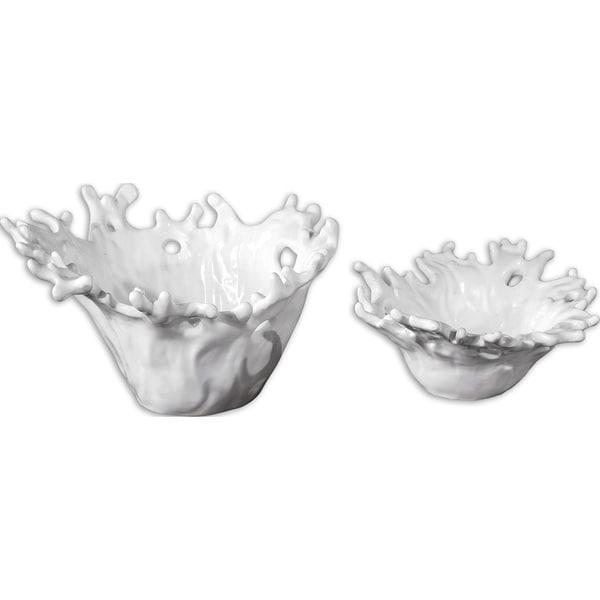 Uttermost White 'Coral' Decorative Bowls (Set of 2)