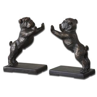 Uttermost Cast Iron Bulldog Bookends