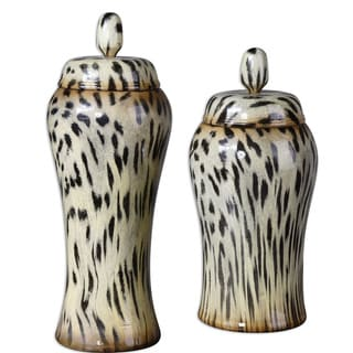 Uttermost Malawi Burnished Cheetah Containers (Set of 2)