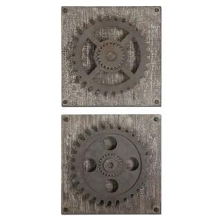 Uttermost Rustic Gears Wall Art (Set of 2)