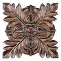 Chestnut Brown Four Leaves Plaque