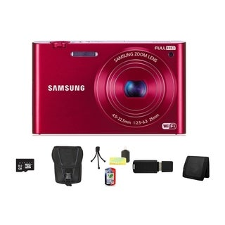 Samsung MV900F MultiView 16.3MP Red Digital Camera 8GB Bundle