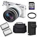 Samsung NX300 20.3MP Mirrorless Digital Camera 18-55mm OIS Lens 32GB Bundle