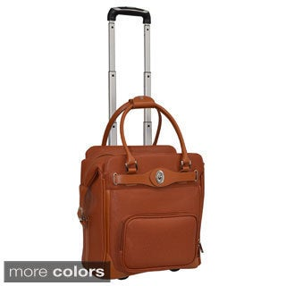 Adrienne Vittadini Carry-on Solid Rolling Laptop Case
