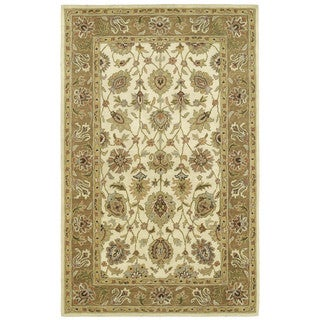Hand-tufted Anabelle Ivory Wool Area Rug (8' x 10')