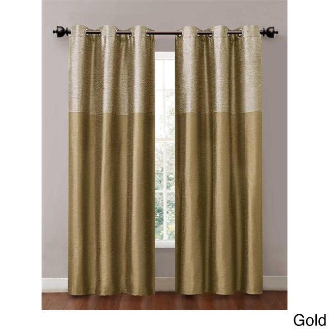 Lavish Home Arla Grommet Single Curtain Panel White//Cream 63-108Q196-W 108-Inch