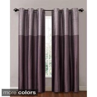 Lancaster 84-inch Color Blocked Grommet Curtain Panel Pair (Set of 2)