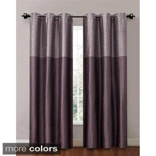 Lancaster 84-inch Color Blocked Grommet Curtain Panel Pair (Set of 2)