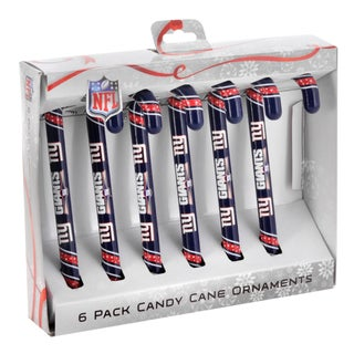 New York Giants NFL Candy Cane Ornament Set