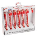San Francisco 49ers NFL Candy Cane Ornament Set