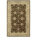 Anabelle Chocolate Brown Hand-tufted Wool Rug (4' x 6')