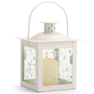 Zingz & Thingz Small White Glass Window Lantern