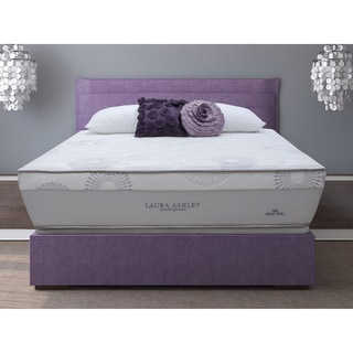 Laura Ashley Azalea Full-size Plush Super Size Mattress and Foundation Set