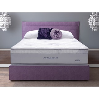 Laura Ashley Azalea King-size Plush Mattress and Foundation Set