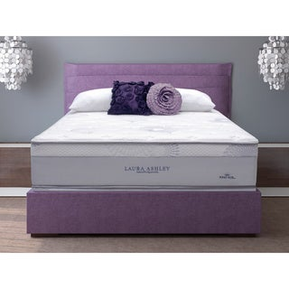 Laura Ashley Azalea Queen-size Plush Mattress and Foundation Set
