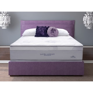 Laura Ashley Azalea Full-size Plush Mattress and Foundation Set