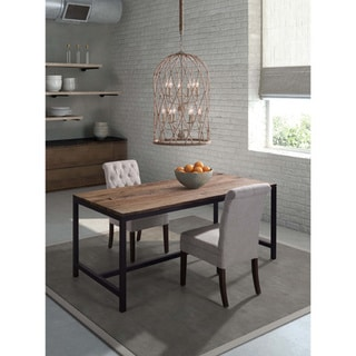 Natural Distressed Brown Wood Dining Table
