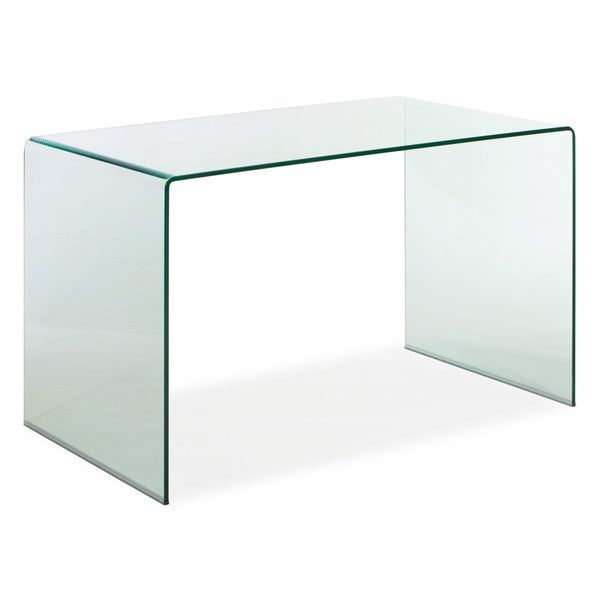 Clear Glass Executive Desk