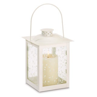 Large Ivory Color Glass Lantern